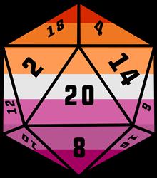 D20 Dice Lesbian Pride print art