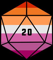 Lesbian Pride Dice print art