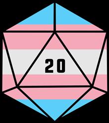 D20 Transgender Pride print art