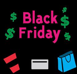 Black Friday Shopper print art