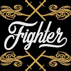 Fighter print art