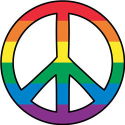 Gay Pride Peace print art
