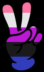 Genderfluid Pride Peace Sign print art