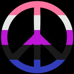 Genderfluid Pride Peace print art
