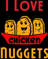Love Chicken Nuggets print art