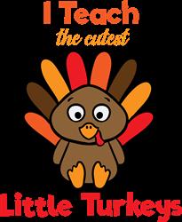 I Teach Turkeys print art