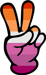 Lesbian Pride Peace Sign print art