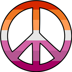 Lesbian Pride Peace print art