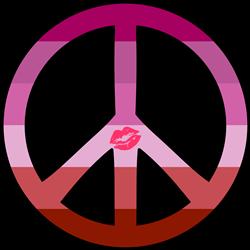 Lipstick Lesbian Pride Peace print art