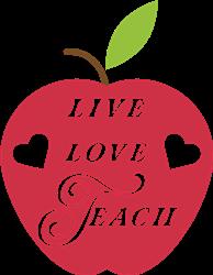 Live Love Teach print art