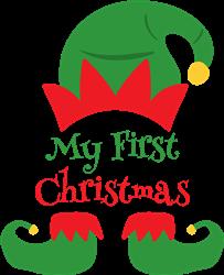 My First Christmas print art