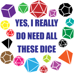 All These Dice print art