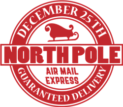 North Pole Airmail print art