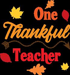 One Thankful Teacher print art