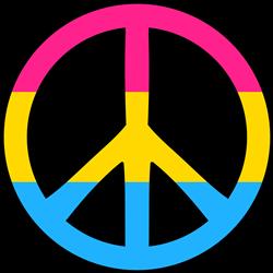 Pansexual Pride Peace print art