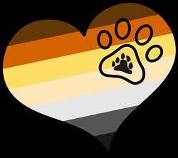 Bear Brotherhood Pride Heart print art