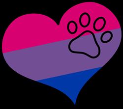 Bisexual Pride Heart print art
