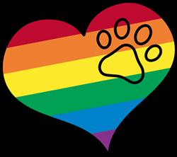 Gay Pride Heart print art