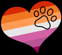 Lesbian Pride Heart print art