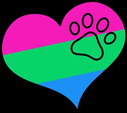 Polysexual Pride Heart print art