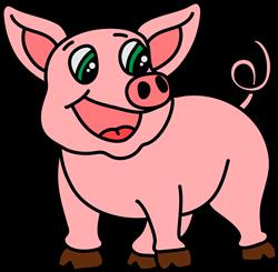 Piggy print art