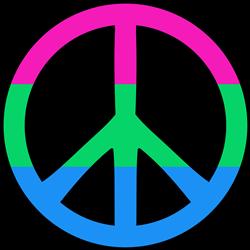 Polysexual Pride Peace print art