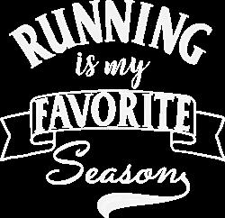 Running Season White print art