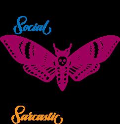 Sarcastic Moth print art