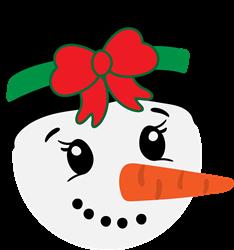 Girl Snowman print art