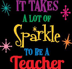 Sparkle Teacher print art