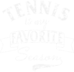 Tennis Season White Grunge print art