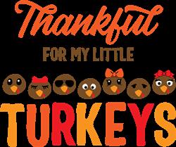 My Little Turkeys print art