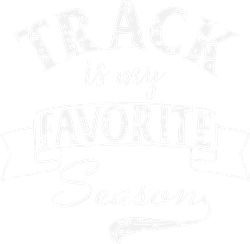 Track Season White Grunge print art
