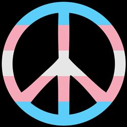 Transgender Pride Peace print art
