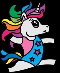 Unicorn Gymnast print art