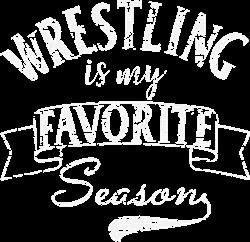 Wrestling Season White Grunge print art