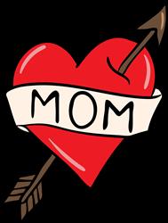 Mom Heart Arrow print art