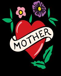 Mother Heart Daisies print art