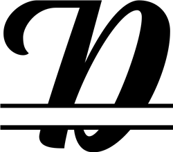 Split Monogram  D print art