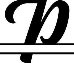 Split Monogram P print art