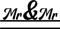 Split Monogram Mr & Mr print art