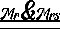 Split Monogram Mr & Mrs print art