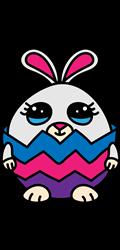 Happy Easter Cracked Egg print art
