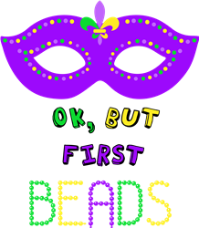Ok But First Beads print art