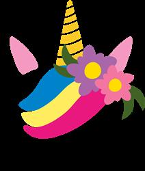 Unicorn & Flowers print art