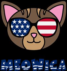 Meowica Cat Face print art