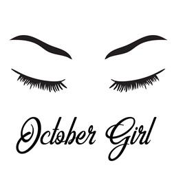 October Girl print art