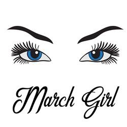 Eyes Open March Girl print art