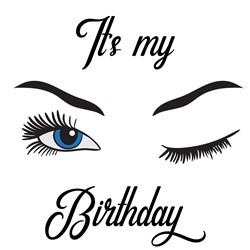Winking Birthday Girl print art