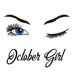 Winking October Girl print art